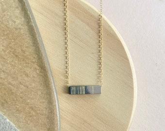 Mauve + Charcoal Gradient Necklace