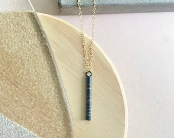 Charcoal Bar Necklace