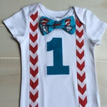 Boys first birthday outfit Dr. Seuss Baby Boy 1st Birthday Shirt Short sleeve with Bow Tie, Suspenders, Number, First Birthday Dr. suess shi