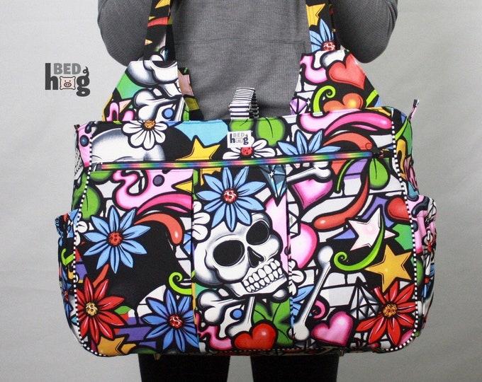 Street Skulls Foxglove Bag | Gym Bag | Diaper Bag | Overnight Bag