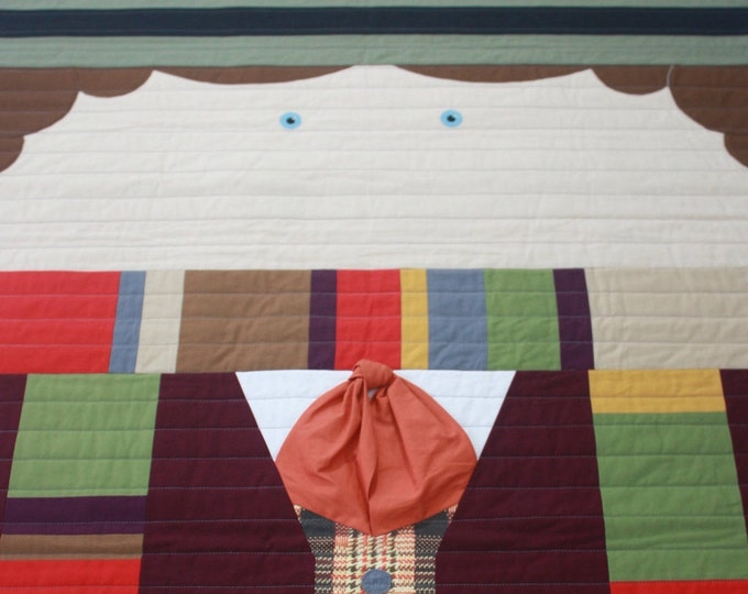 Doctor Who baby quilt--The Fourth Doctor--READY TO SHIP!!