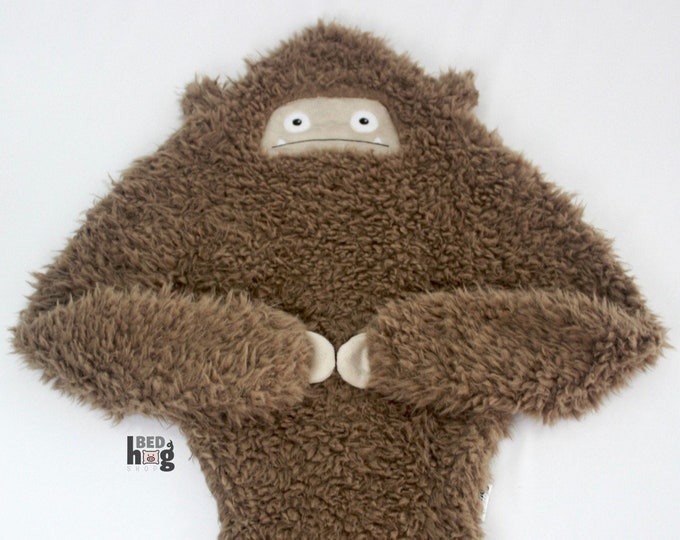 Sasquatch baby blanket | Bigfoot security blanket | Sasquatch security blanket | Bigfoot snuggle buddy