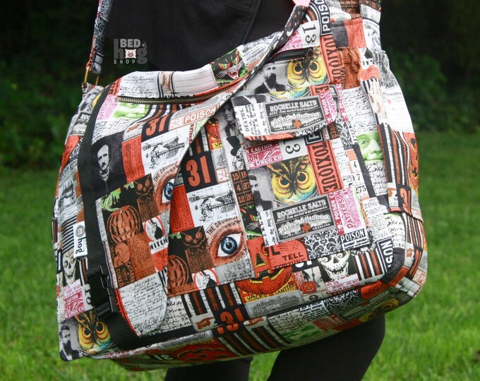Halloween Collage Urban Messenger Bag | Daddy Diaper Bag | Messenger Style Diaper Bag