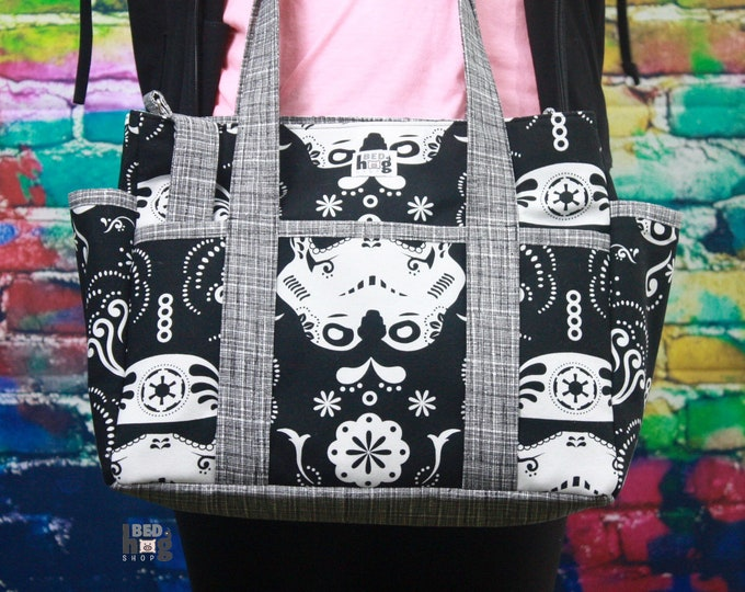 Stormtrooper Damask Ultimate Diaper Bag | Tote Style Diaper Bag | Tote Bag
