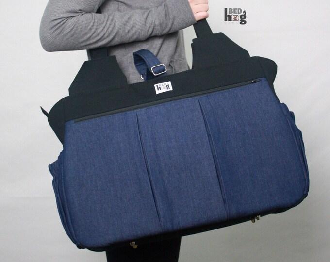 Denim and Canvas Foxglove Bag | Gym Bag | Diaper Bag | Overnight Bag
