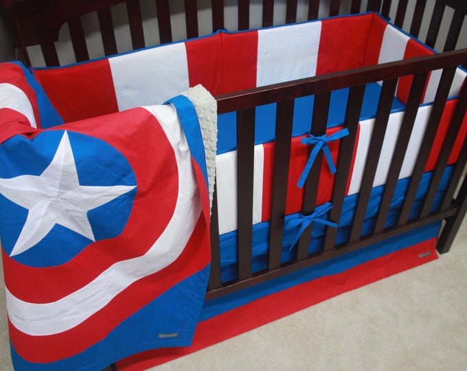 Superhero baby bedding--Captain America--With Bumpers