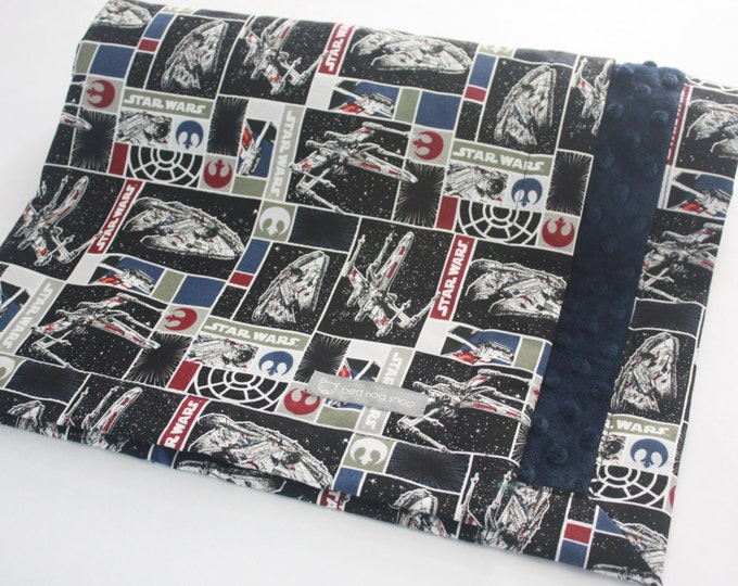 Star Wars Baby Blanket-Ships in Blocks