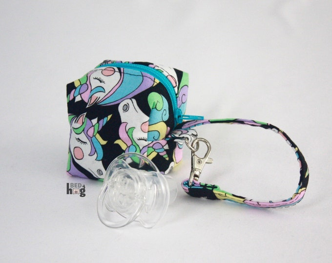 Pastel Rainbow Unicorn Pacifier Pouch | Pacifier Pouch | Pacifier Bag