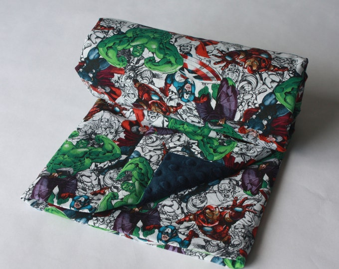 Marvel Avengers Baby Blanket--Sketches