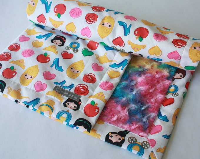 Princess Baby Blanket-Rainbow Emojis