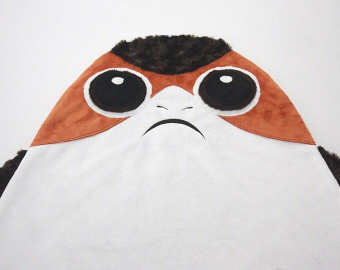 Star Wars baby blanket--Porg security blanket--Porg baby blanket