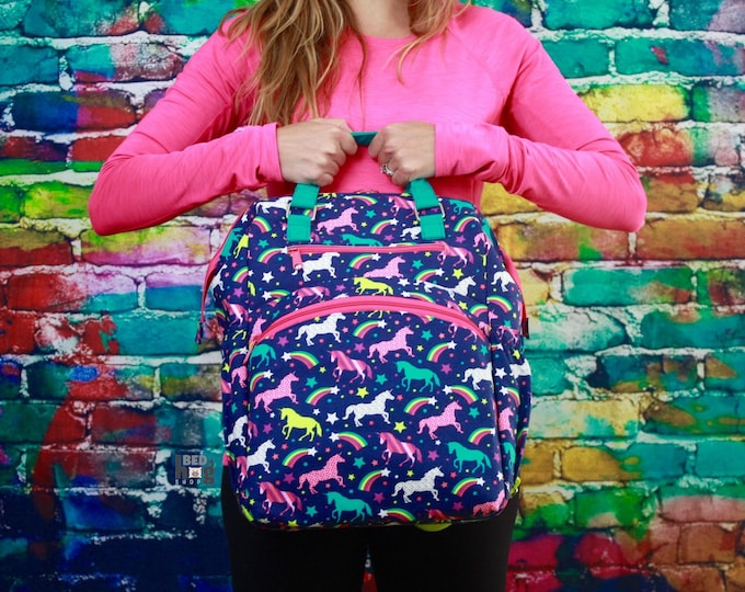 Unicorns and Rainbow Backpack | Diaper Bag | Diaper Backpack