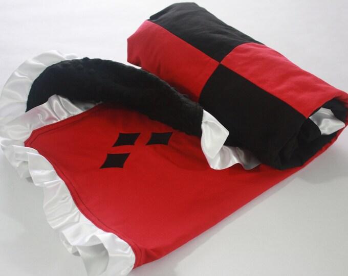 Harley Quinn baby/toddler blanket