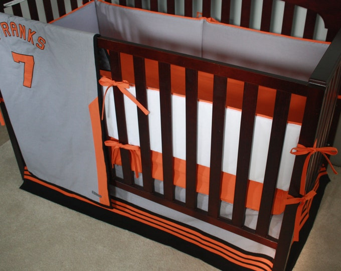 Baseball baby bedding--Custom Crib Bedding-MTO