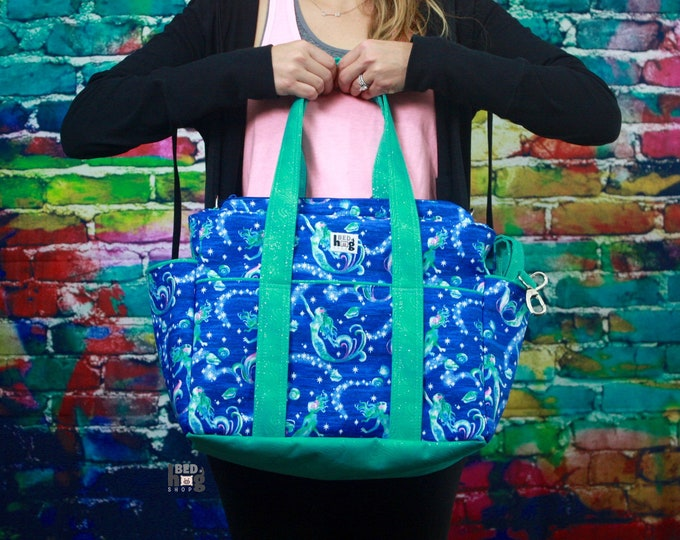 Mermaid XL Ultimate Diaper Bag | Tote Style Diaper Bag | Tote Bag
