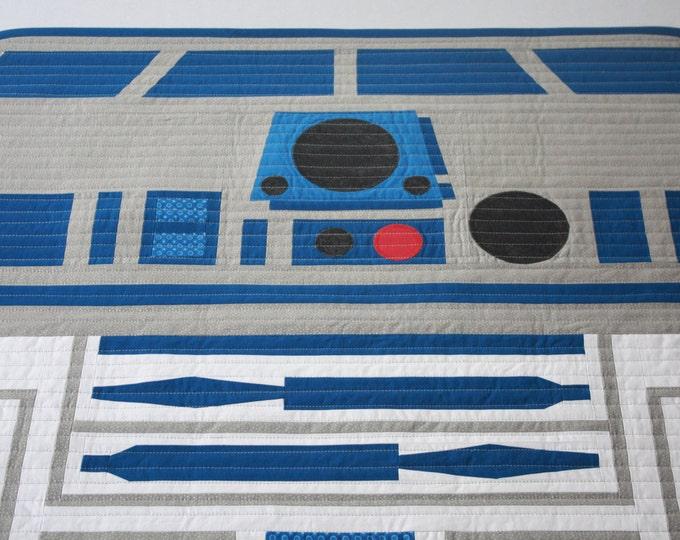 Star Wars Quilt--R2D2 Quilt--R2-KT Quilt-MTO