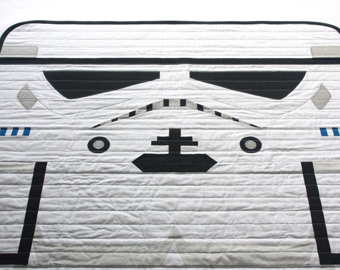 Star Wars baby quilt--Stormtrooper baby quilt--READY TO SHIP!!