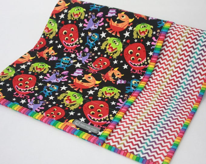 Monster Baby Blanket-Quilted Multicolor