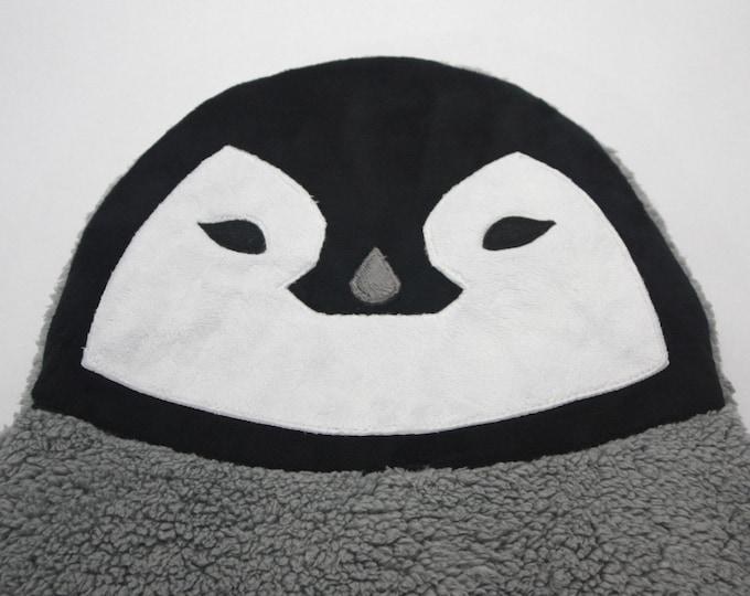 Baby Penguin baby blanket--Baby Penguin security blanket--Penguin security blanket
