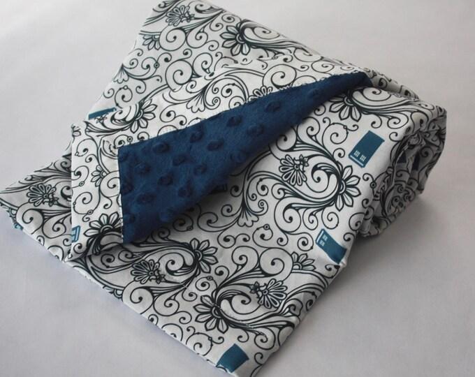 Doctor Who Baby Blanket--Whimsical Tardis-MTO