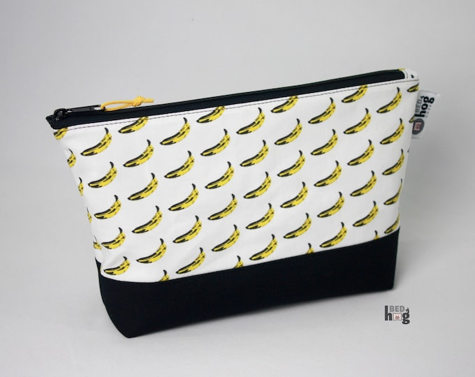 Pop Art Banana and Stripes XL Essential Pouch