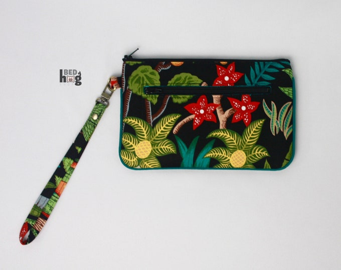 Frida's Garden Nina Wristlet with Teal | Wallet | Clutch | Bag