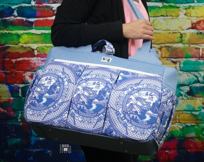 Blue Box Willow Foxglove Bag | Gym Bag | Diaper Bag