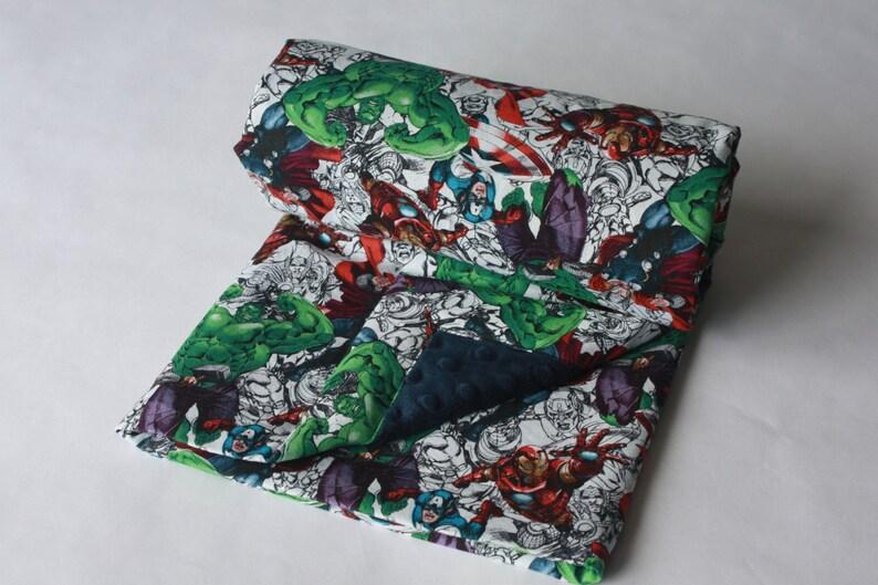 Marvel Avengers Baby Blanket--Sketches