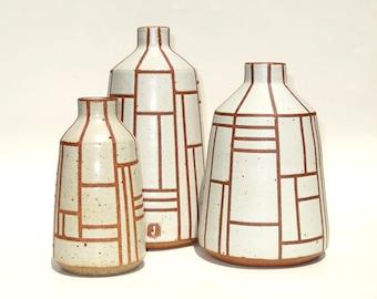 Bungalow handmade ceramic vases