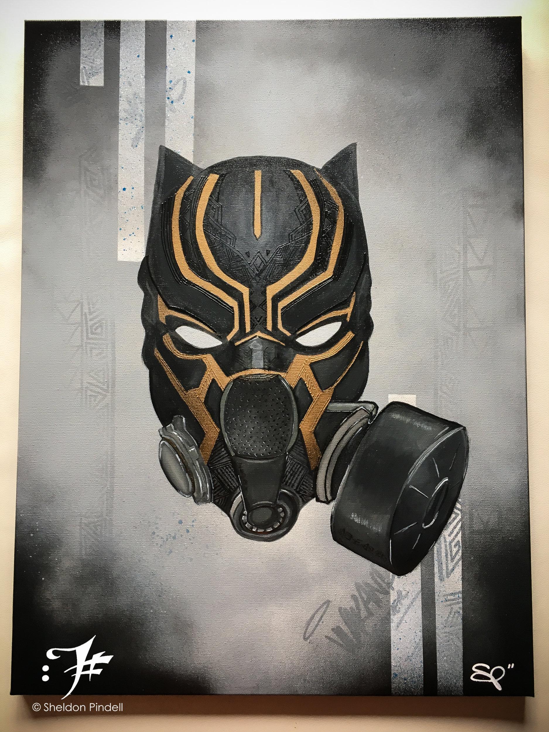 AvengersMarvel Dessinée Panther PersonnaliséeArtgang ArtBande CollectionArt ComicsOr Masque À De Black MarvelStreet GazPersonnage 9WEHI2D