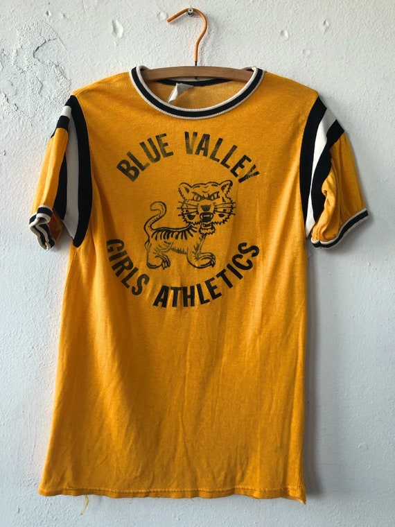 Vintage 60's Empire Rayon Cotton Blue Valley Girls