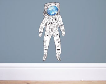 Spaceman Wall decal,Space wall decal,Space decor,nursery decor, space decor,spaceman sticker, astronaut sticker, astronaut decal,space art