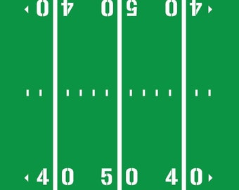 Football Field Yardline Numbers Room Decal Removable Vinyl Etsy