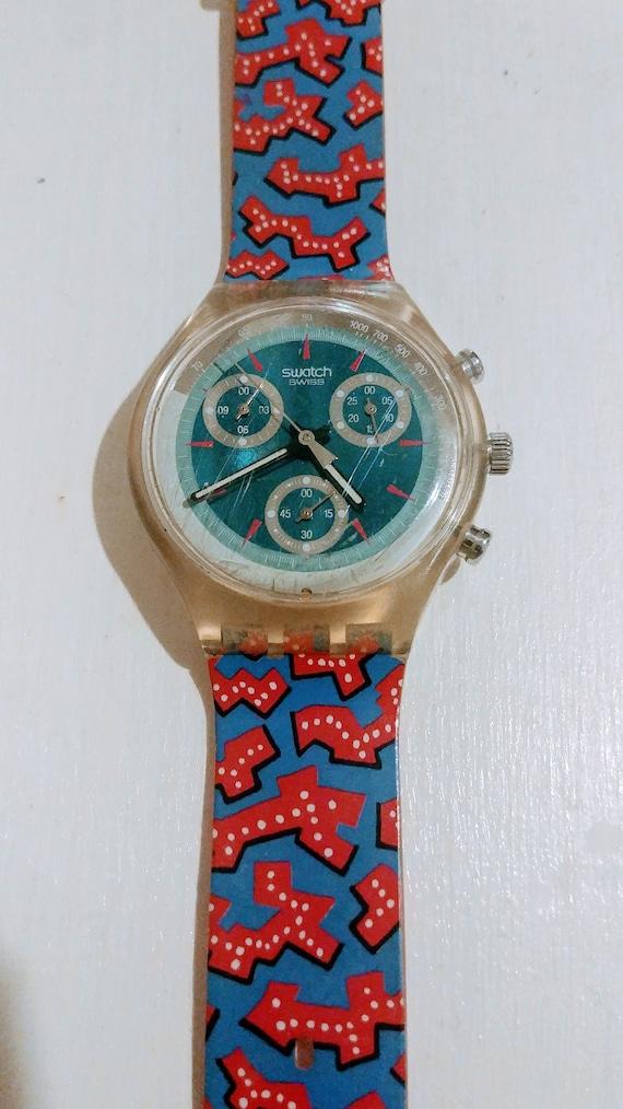 "1993 ""Wild Card"" Swatch Watch Working, Swatch Swis"