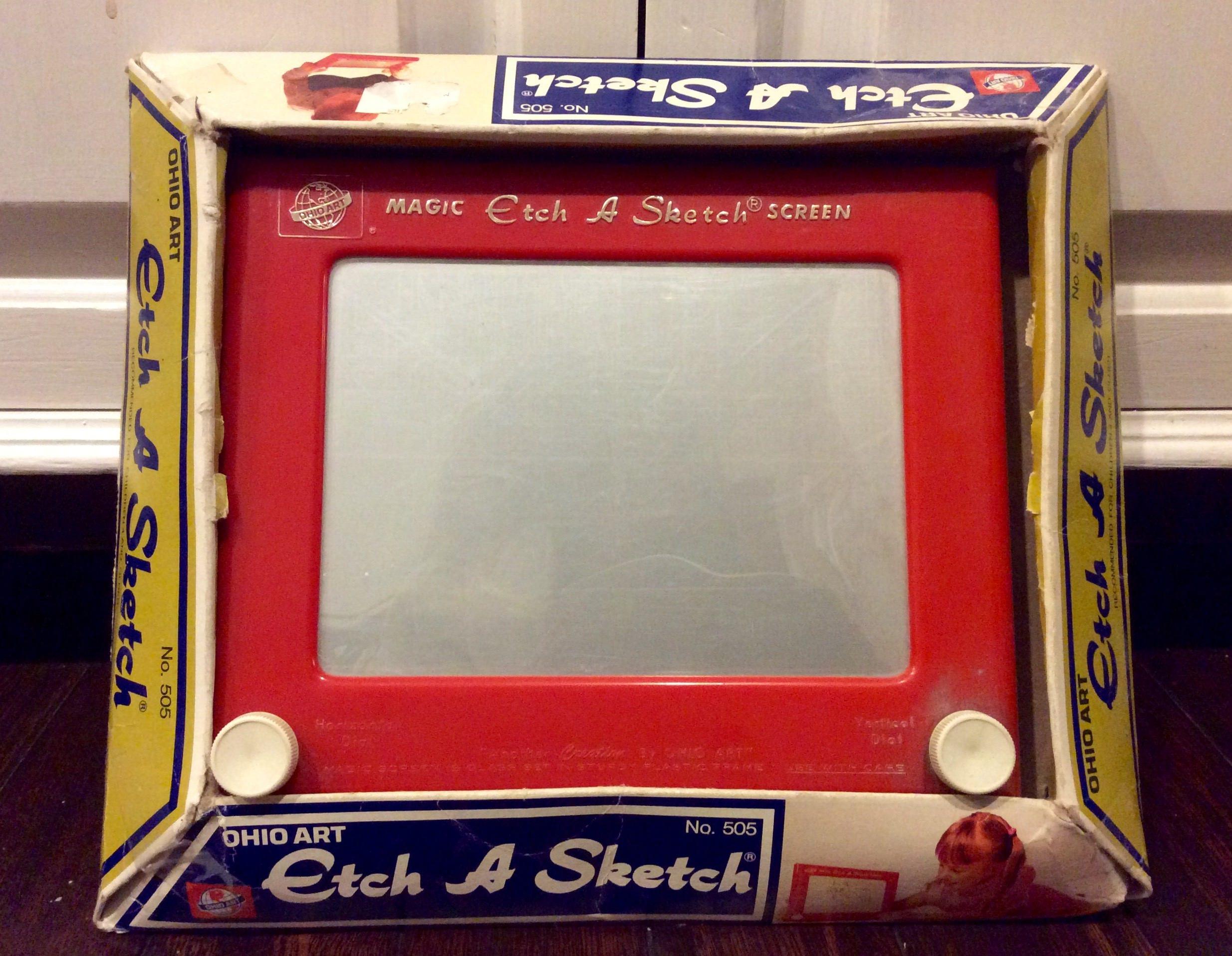 Original Etch A Sketch by Ohio Art IOB Vintage Etch A Sketch