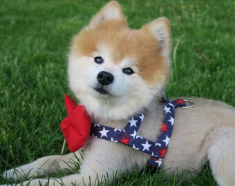 09fc695b2893 The Americus// Dog Harness w/ Bow-Tie, Dog Harness, Easy on harness, summer dog  harness, cute harness, american flag, 4th of july harnes
