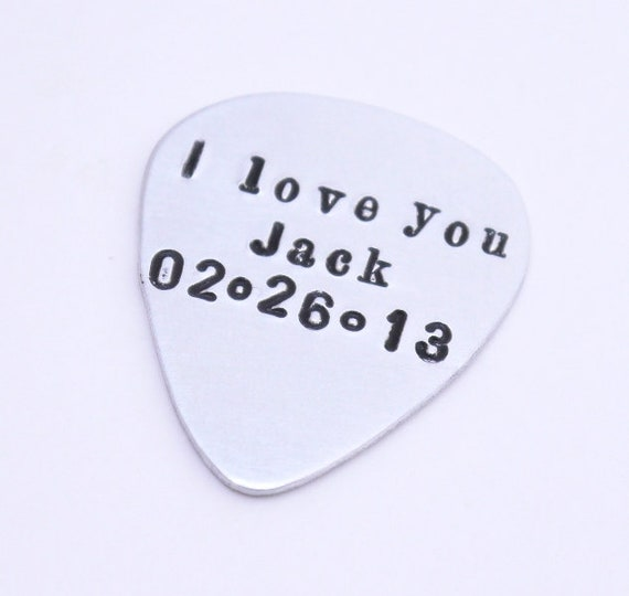 Personalized Guitar Pick Guitar Pick I pick you Custom Any Date