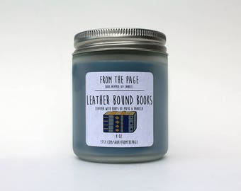 Leather Bound Books Soy Candle - 8 oz