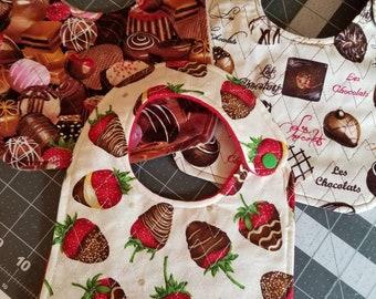Chocolate Covered Strawberries Bib Set