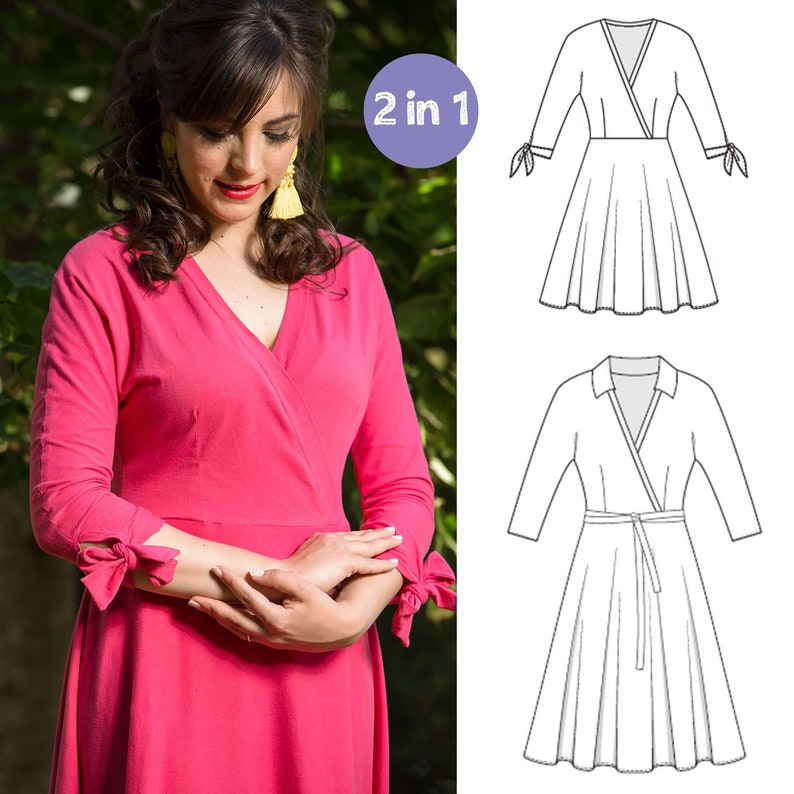 Samantha Dress Women S Pdf Sewing Pattern Size 4 To 28 Etsy