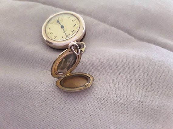 gold filled lot of locket and as is pendant watch