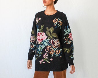 fa32c6fc1ab 80s Digi Floral Sweater