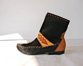 Vintage 80s Susan Bennis Warren Edwards Beaded Suede Southwestern Booties Hand Made in Italy Size 8 RARE 1980s Designer Boho Boots