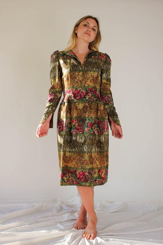 Vintage 80s Pauline Trigere for Amen Wardy Floral… - image 4