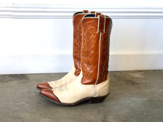 Vintage Cap Toe Cowboy Boots | SZ womens 6.5 | vin