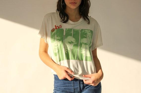 Vintage 80s A-Ha Band Paper Thin Tee Shirt   RARE