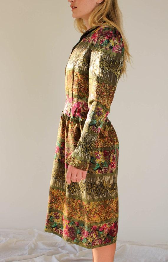 Vintage 80s Pauline Trigere for Amen Wardy Floral… - image 8