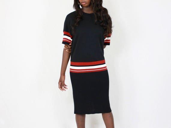 0536091926b 80 s DKNY Tee Dress Donna Karen New York vintage