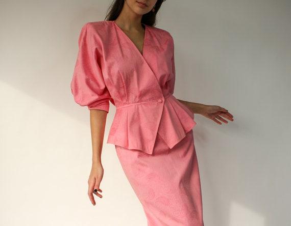 Vintage 70s 80s UNGARO Parallele Paris Light Pink