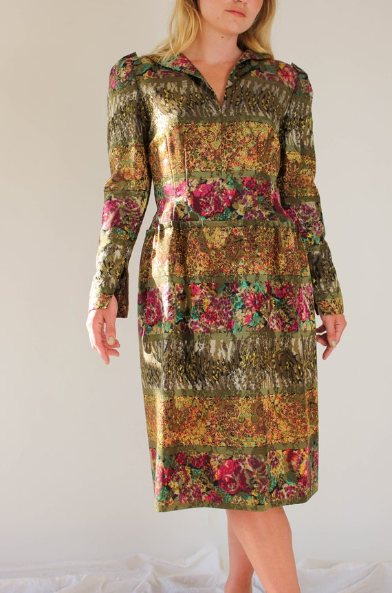 Vintage 80s Pauline Trigere for Amen Wardy Floral… - image 5